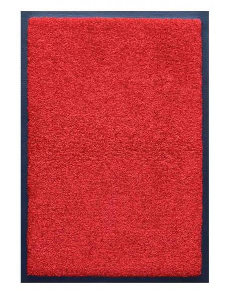 TAPIS D'ACCUEIL - NYLON UNI ROUGE - Rectangulaire 60 x 90cm