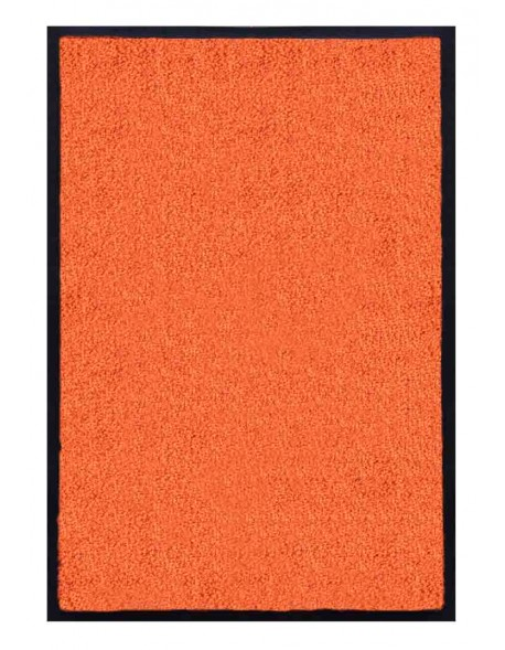 TAPIS D'ACCUEIL - NYLON UNI ORANGE - Rectangulaire 60 x 90cm