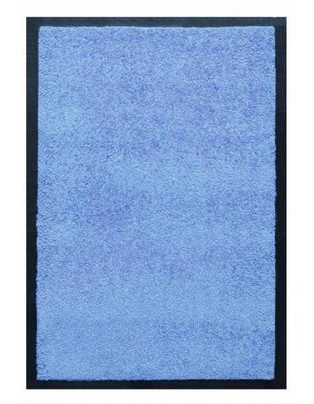 TAPIS D'ACCUEIL - NYLON UNI BLEU CIEL - Rectangulaire 60 x 90cm