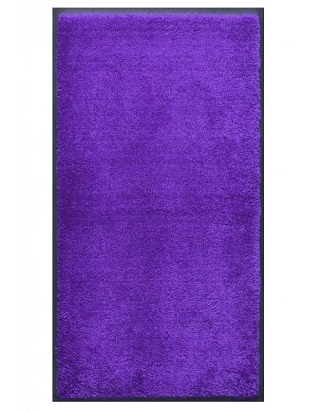 TAPIS PRESTIGE D'INTÉRIEUR - Fibre nylon uni bleu reflets violet - Rectangulaire 120x240cm
