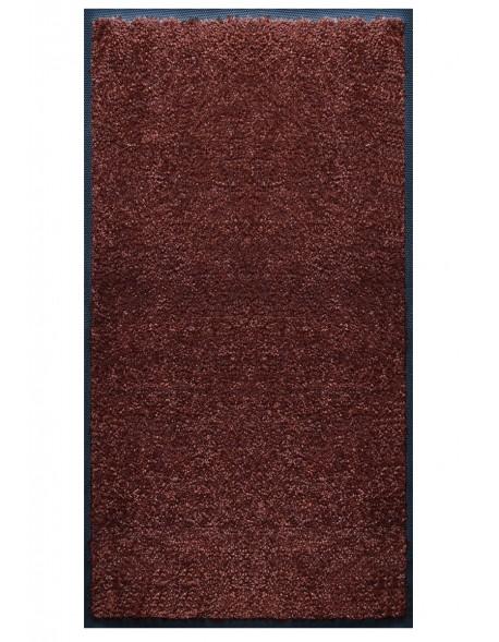 TAPIS PRESTIGE D'INTÉRIEUR - Fibre nylon uni marron foncé - Rectangulaire 120x240cm