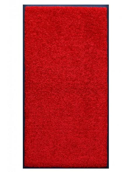 TAPIS PRESTIGE D'INTÉRIEUR - Fibre nylon uni rouge - Rectangulaire 120x240cm