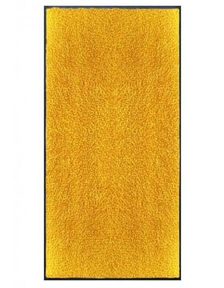 TAPIS PREMIUM - Fibre nylon uni jaune orangé - Rectangulaire 120x240cm
