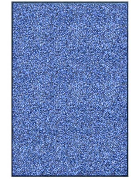 TAPIS PREMIUM - Fibre nylon bleu chiné - Rectangulaire 120x180cm