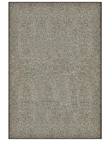 TAPIS PREMIUM - Fibre nylon gris chiné - Rectangulaire 120x180cm