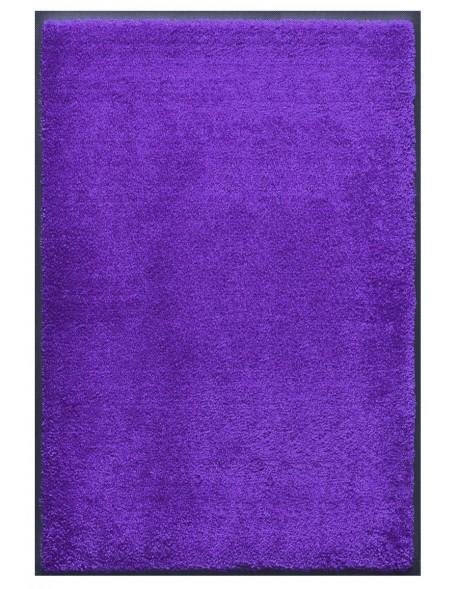 TAPIS PRESTIGE D'INTÉRIEUR - Fibre nylon uni bleu reflets violet - Rectangulaire 120x180cm