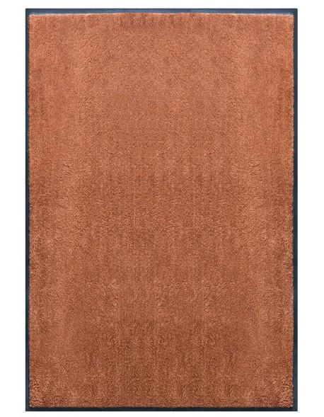 TAPIS PREMIUM - Fibre nylon uni marron caramel - Rectangulaire 120x180cm