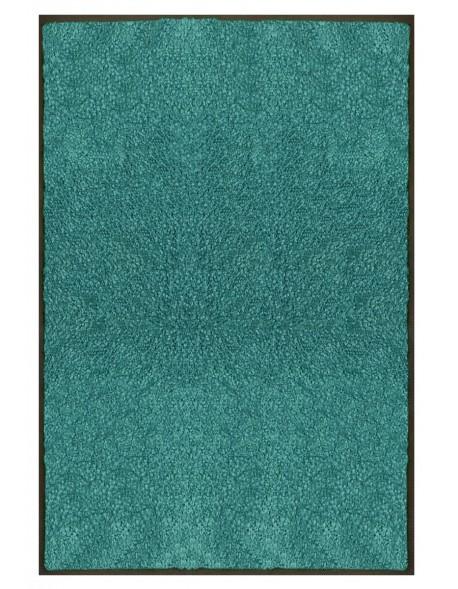 TAPIS PREMIUM - Fibre nylon uni turquoise - Rectangulaire 120x180cm