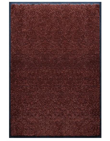 TAPIS PREMIUM - Fibre nylon uni marron foncé - Rectangulaire 120x180cm