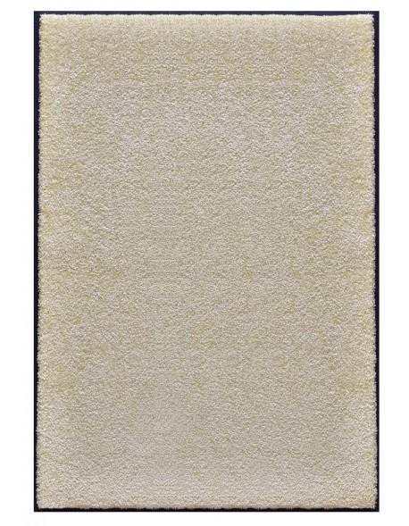 TAPIS PRESTIGE D'INTÉRIEUR - Fibre nylon uni blanc cassé - Rectangulaire 120x180cm