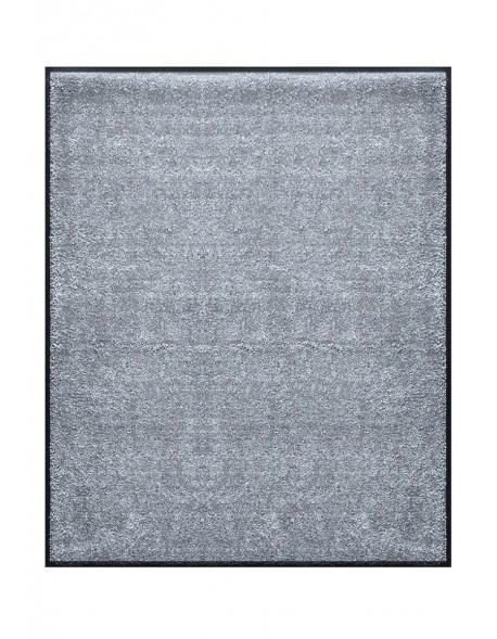TAPIS DE PORTE D'ENTRÉE - NYLON UNI GRIS CLAIR - Rectangulaire 80x90cm