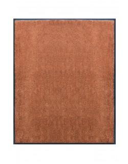 TAPIS DE PORTE D'ENTRÉE - NYLON UNI MARRON CARAMEL - Rectangulaire 80 x 90cm