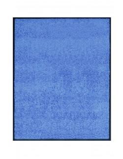 TAPIS DE PORTE D'ENTRÉE - NYLON UNI BLEU CLAIR - Rectangulaire 80 x 90cm