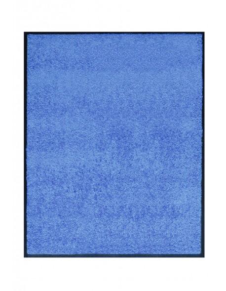 TAPIS DE PORTE D'ENTRÉE - NYLON UNI BLEU CLAIR - Rectangulaire 80x90cm
