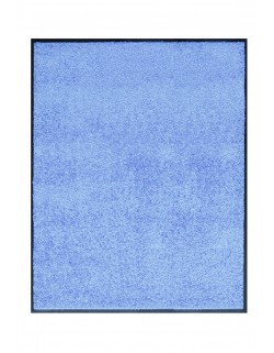 TAPIS DE PORTE D'ENTRÉE - NYLON UNI BLEU CIEL - Rectangulaire 80 x 90cm
