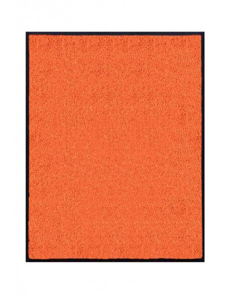 TAPIS DE PORTE D'ENTRÉE - NYLON UNI ORANGE - Rectangulaire 80x90cm