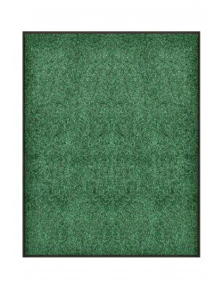 TAPIS DE PORTE D'ENTRÉE - NYLON VERT CHINÉ - Rectangulaire 80 x 90cm
