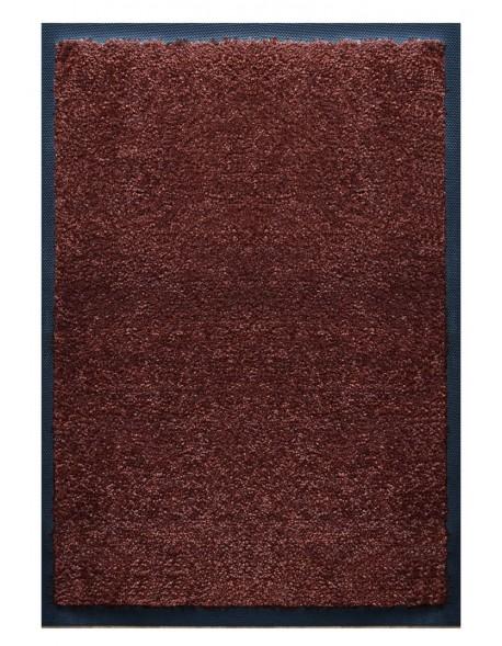 PAILLASSON Haut-de-gamme - Nylon uni marron foncé - Rectangulaire 50 x 75cm