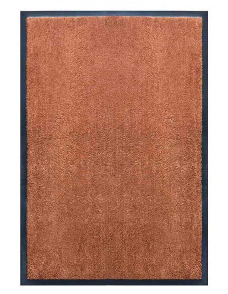 PAILLASSON Haut-de-gamme - Nylon uni marron caramel - Rectangulaire 50 x 75cm