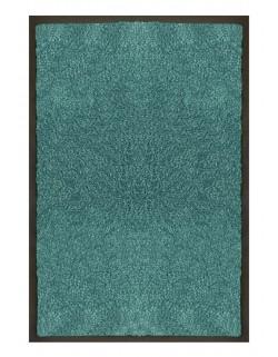 PAILLASSON Haut-de-gamme - Nylon uni turquoise- Rectangulaire 50 x 75cm