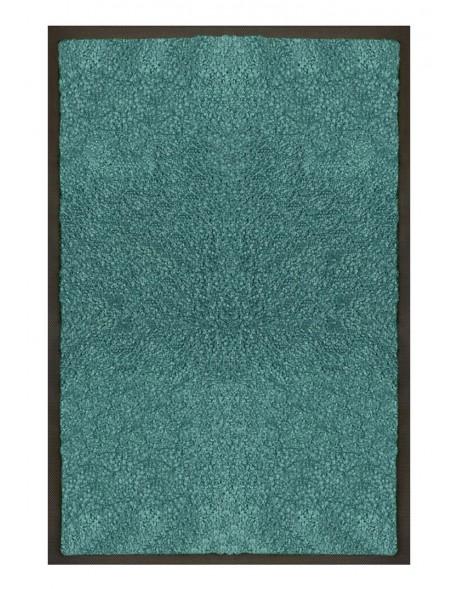 PAILLASSON Haut-de-gamme - Nylon uni turquoise - Rectangulaire 50 x 75cm