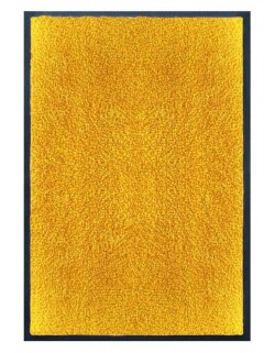 PAILLASSON Haut-de-gamme - Nylon uni jaune orangé - Rectangulaire 50 x 75cm