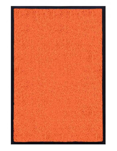 PAILLASSON Haut-de-gamme - Nylon uni orange - Rectangulaire 50 x 75cm