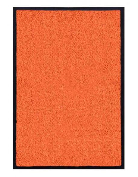 PAILLASSON Haut-de-gamme - Nylon uni orange - Rectangulaire 50 x 75cm
