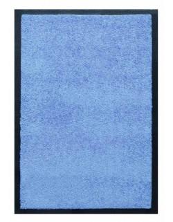 PAILLASSON Haut-de-gamme - Nylon uni bleu ciel - Rectangulaire 50 x 75cm