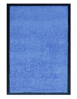PAILLASSON Haut-de-gamme - Nylon uni bleu clair - Rectangulaire 50 x 75cm