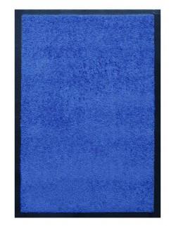 PAILLASSON Haut-de-gamme - Nylon uni bleu - Rectangulaire 50 x 75cm