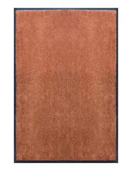 PAILLASSON Haut-de-gamme - Nylon uni marron caramel - Rectangulaire 80 x 120cm