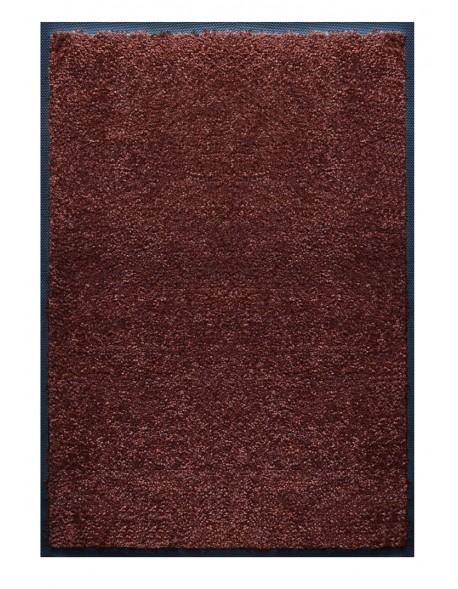 PAILLASSON Haut-de-gamme - Nylon uni marron foncé - Rectangulaire 80 x 120cm