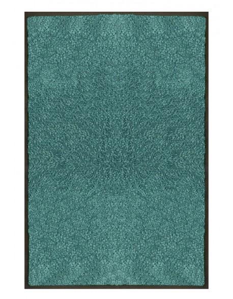PAILLASSON Haut-de-gamme - Nylon uni turquoise - Rectangulaire 80 x 120cm
