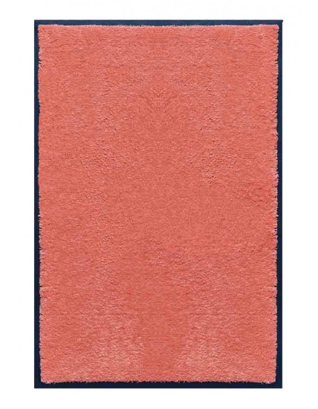 PAILLASSON Haut-de-gamme - Nylon uni saumon - Rectangulaire 80 x 120cm