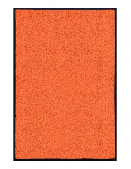 PAILLASSON Haut-de-gamme - Nylon uni orange - Rectangulaire 80 x 120cm