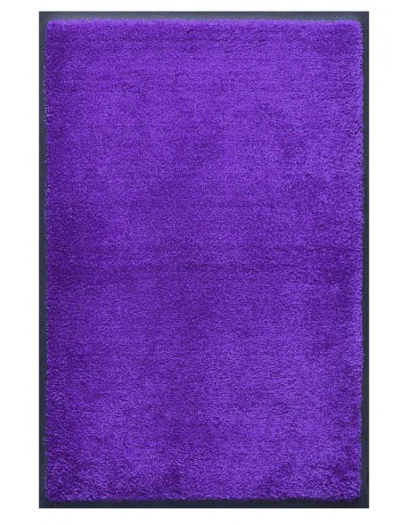 PAILLASSON Haut-de-gamme - Nylon uni bleu violet - Rectangulaire 80 x 120cm