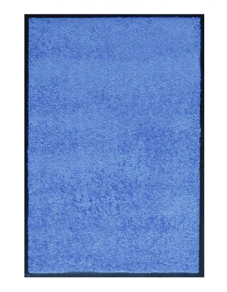 PAILLASSON Haut-de-gamme - Nylon uni bleu clair - Rectangulaire 80 x 120cm