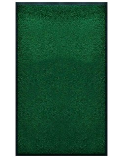 PAILLASSON Haut-de-gamme - Nylon uni vert - Rectangulaire 90 x 150cm