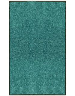 PAILLASSON Haut-de-gamme - Nylon uni turquoise - Rectangulaire 90 x 150cm