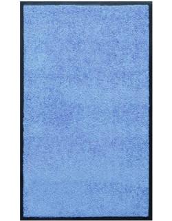 PAILLASSON Haut-de-gamme - Nylon uni bleu ciel - Rectangulaire 90 x 150cm