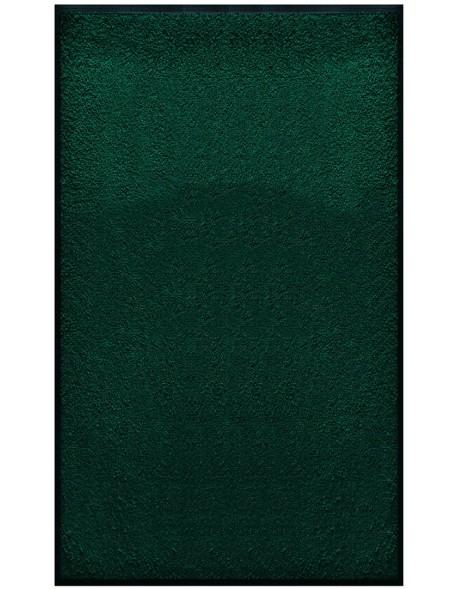 PAILLASSON Haut-de-gamme - Nylon uni vert foncé - Rectangulaire 90 x 150cm