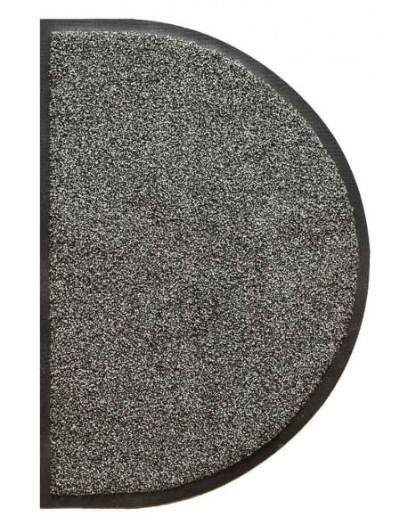TAPIS D'ENTRÉE COTON - DEMI-LUNE 50x80cm - PREMIUM GRIS