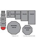 TAPIS PREMIUM COTON - TAILLE DEMI-LUNE 50x80cm - ROUGE