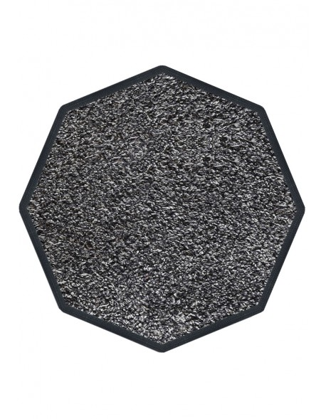 TAPIS D'ENTRÉE COTON - OCTOGONAL 90x90cm - PREMIUM GRIS