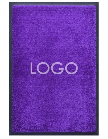 TAPIS LOGO PERSONNALISÉ PREMIUM - Nylon uni bleu reflets violet