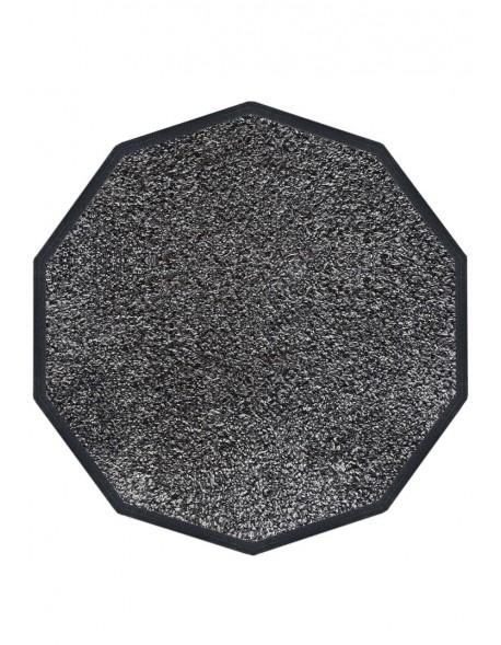 TAPIS D'ENTRÉE COTON - DÉCAGONAL 120x120cm - PREMIUM GRIS