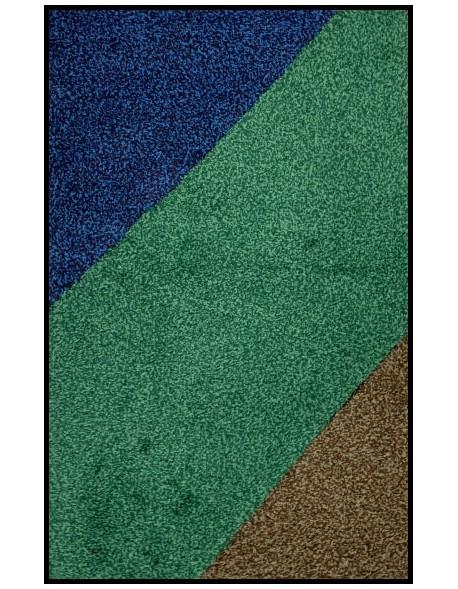 TAPIS D'ENTRÉE COTON MULTICOULEUR - 40x60cm -PREMIUM
