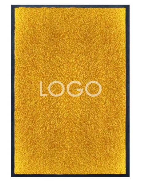 TAPIS LOGO PERSONNALISÉ PREMIUM - Nylon jaune orange