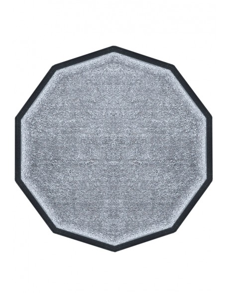 TAPIS PREMIUM NYLON UNI GRIS CLAIR - DÉCAGONALE 120 x 120cm